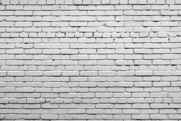 White brick wall facade of an old building