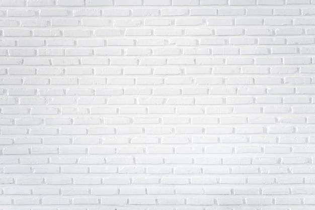Белая кирпичная стена для фона и текстурированная