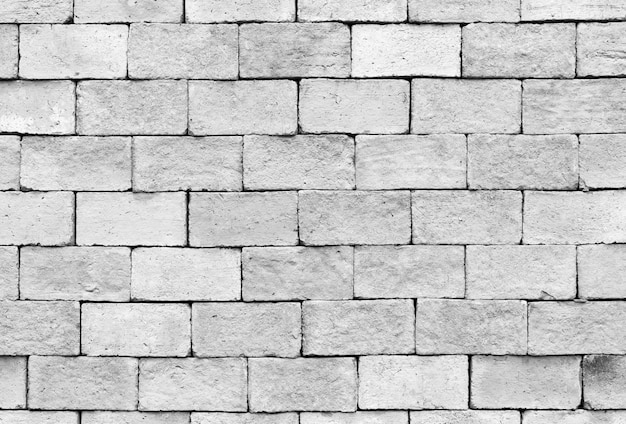 White brick wall interior texture and background
