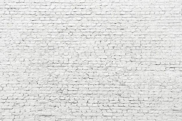 White brick wall, old surface texture of stone blocks