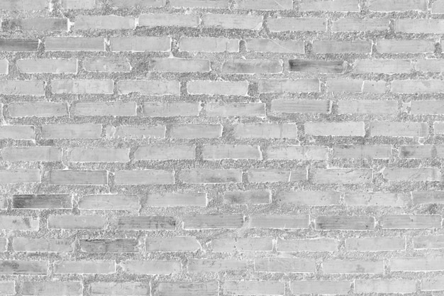 White brick wall for pattern and background.