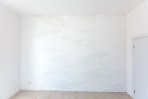 白いレンガの壁、背景として最適