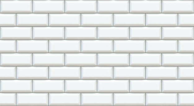 White brick wall rectangles with chamfered edge.