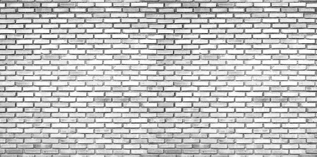 White brick wall, seamless brick texture backgrounds