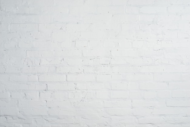 White brick wall texture background. empty clean copyspace