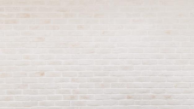 White brick wall texture background panorama