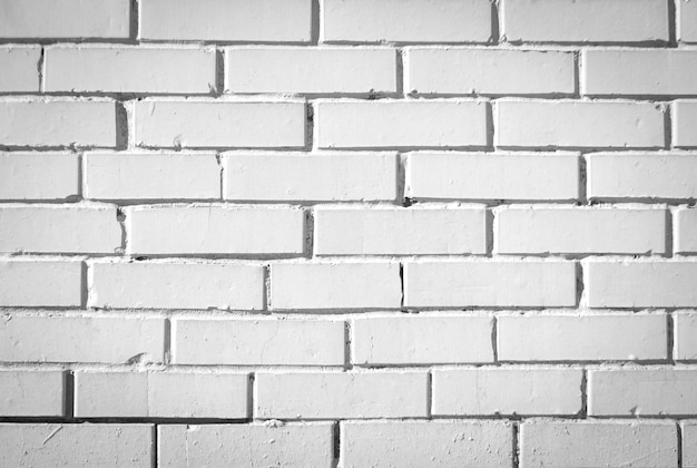 White brick wall for texture or background