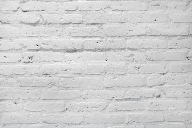 White brick wall texture for background.