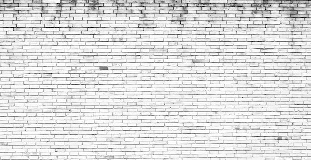 White brick wall texture for pattern background