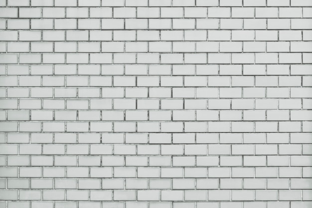 White brick wall textured background