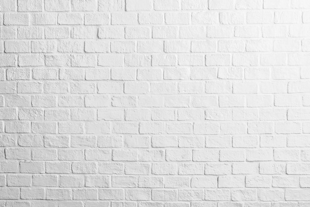 White brick wall textures background