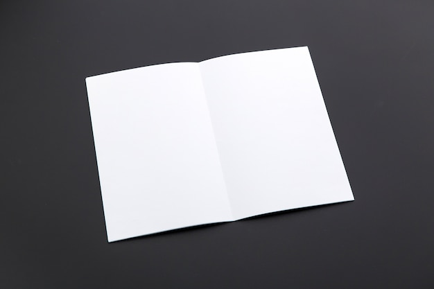 White brochure on table
