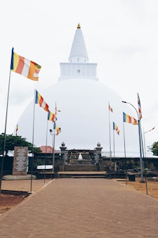 White buddhism temple in sri lanka