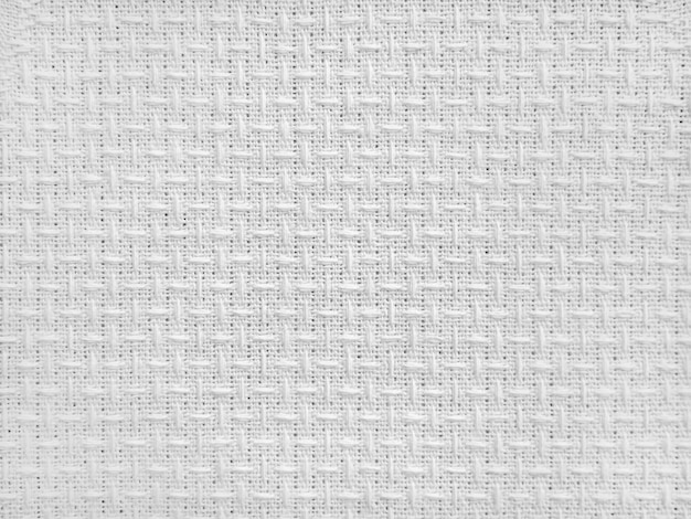 White canvas fabric for the background light linen texture of the background abstract cotton towel