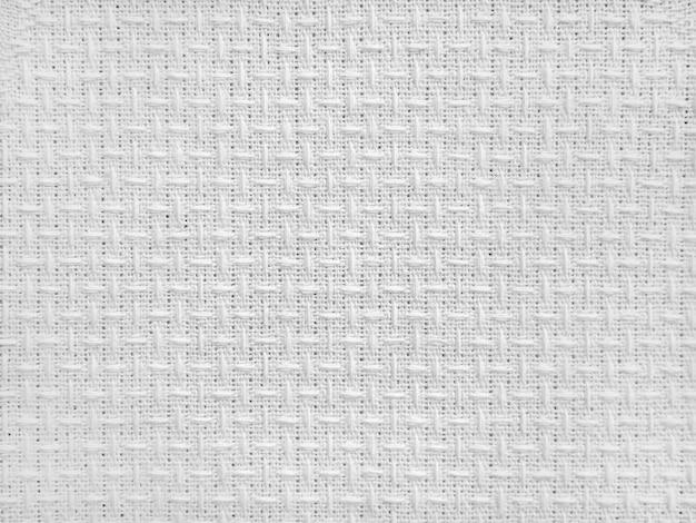 Белая парусиновая ткань для фона светлая льняная текстура фона абстрактное хлопковое полотенце