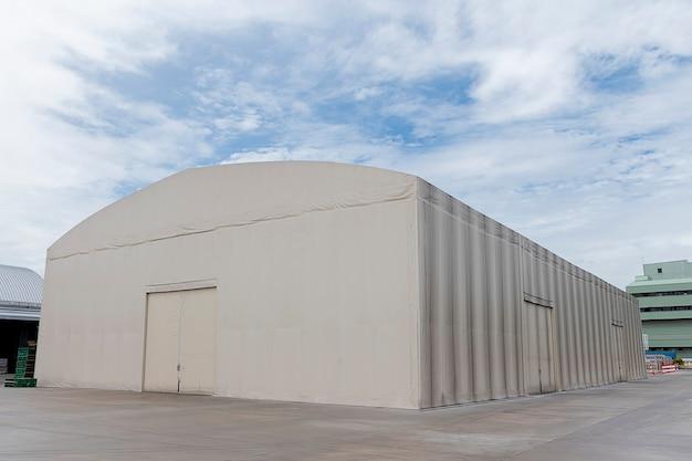White canvas warehouse distribution center