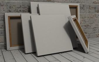 White canvas