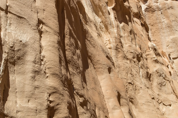 White canyon with yellow rocks. egypt, desert, the sinai peninsula, dahab.