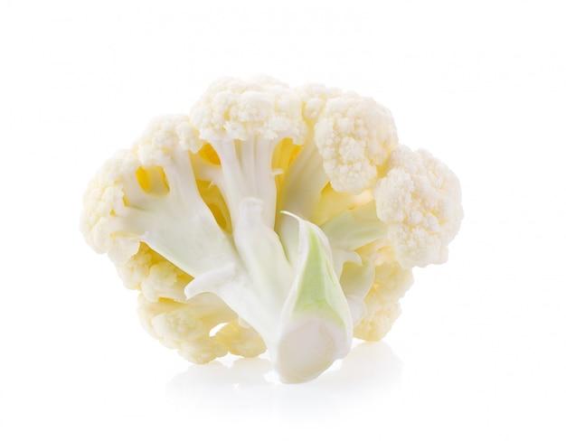 White cauliflower isolated