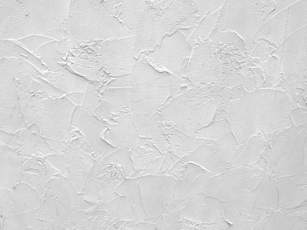 White cement plaster wall texture background.