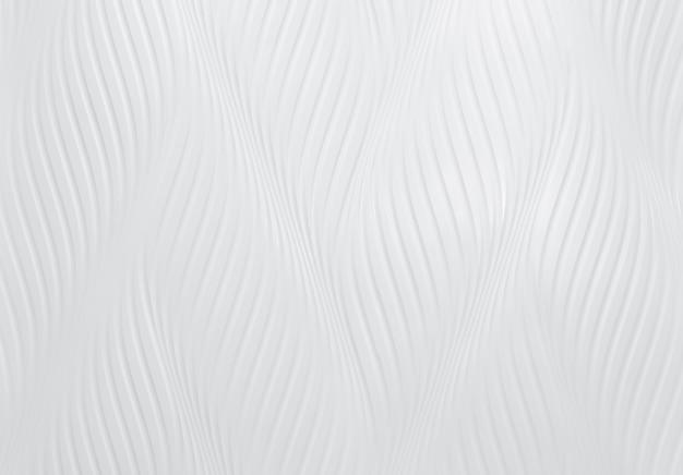 波模様の白いセメントの壁。
