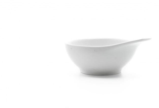 White ceramic bowl