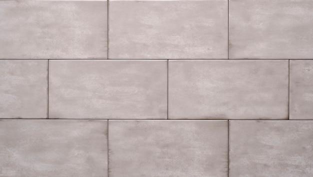 白いセラミックレンガタイル。装飾的なテクスチャ