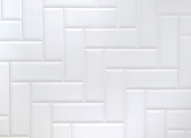 White ceramic brick tile wal
