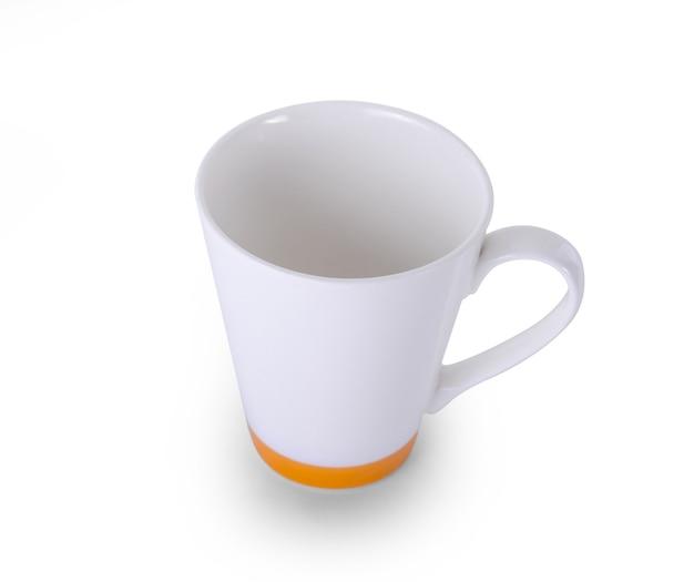 白い表面に白いセラミックカップ