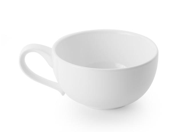 白の白いセラミックカップ
