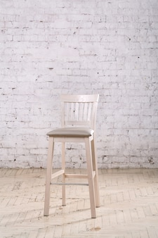 White chair in the room