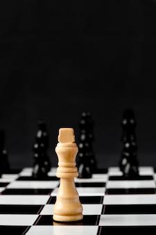 White chess piece standing