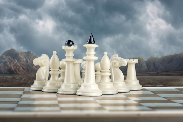 White chess team