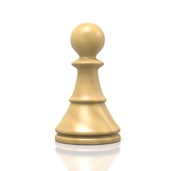 Белая шахматная пешка