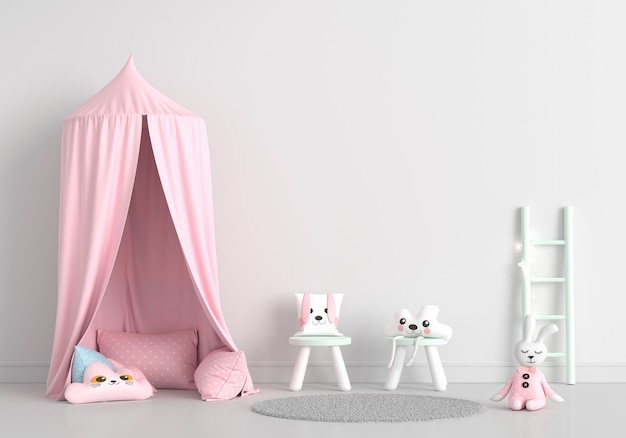 White child room with copy space