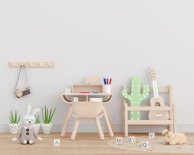 White children room with toys