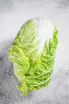 白は白菜。有機野菜。上面図