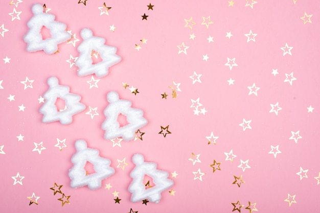 white christmas snowflakes decoration pink background christmas wallpaper 93853 994