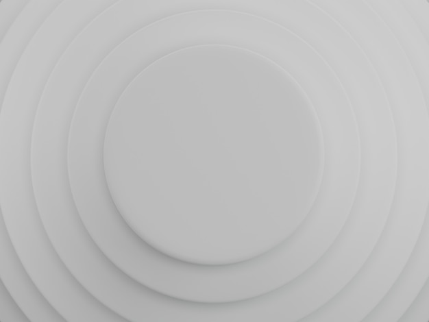 White circles background. abstract pattern for web page, template, background or brochure cover. 3d rendering.