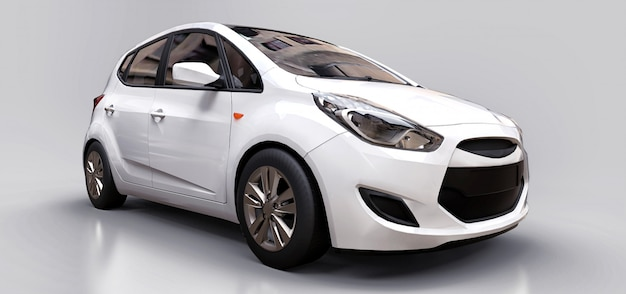 White city car with blank surface
