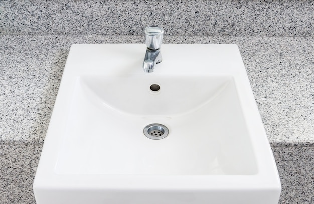 White clean basin