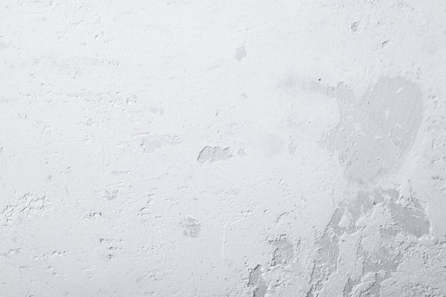 White clean concrete wall with rough texture, wall or floor background