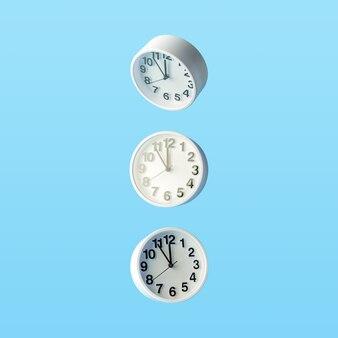 화이트 시계 블루