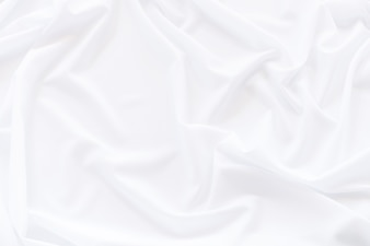 White cloth background and texture, Crumpled of white fabric abstract