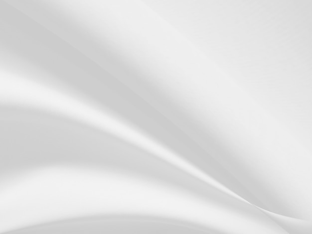White clothes background abstract with soft waves.