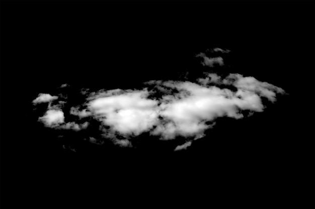 Белое облако, изолированные на черном фоне. фото высокого качества