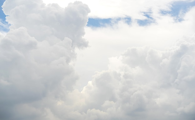 White cloud pattern and texture. soft sky and clouds in daylight. outdoor natural abstract background.