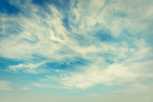 White cloud on sky background