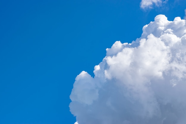 White clouds on a blue sky, texture background.
