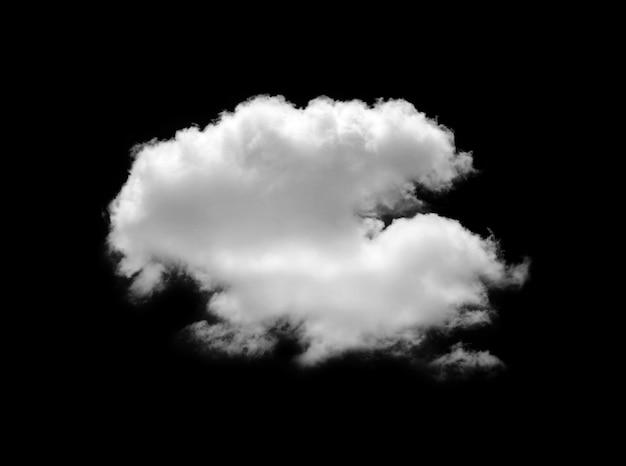 黒に分離された白い雲。